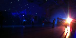 Teens session with disco lights