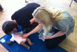 First aid course - resuscitating baby